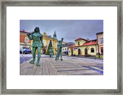 Salt Miners Of Wieliczka, Poland Framed Print by Juli Scalzi