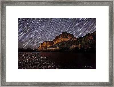 Salt River Star Trails Framed Print by Bill Cantey