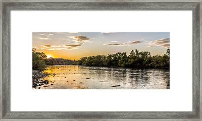 Salt River Sunset Panoramic Framed Print by Chuck Brown