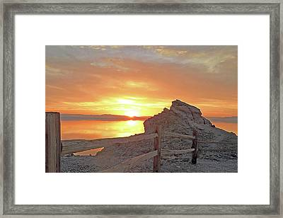 Salton Sunset  Framed Print by Andrew Syiek