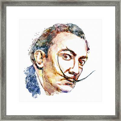 Salvador Dali Watercolor Framed Print by Marian Voicu