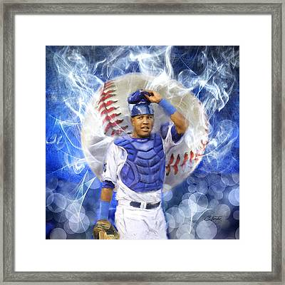 Salvy The Mvp Framed Print by Colleen Taylor
