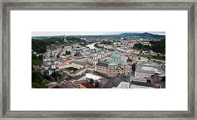 Salzburg Panoramic Framed Print by Adam Romanowicz