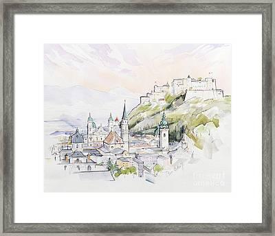 Salzburg Sunrise  Framed Print by Clive Metcalfe