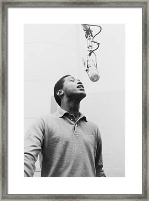 Sam Cooke, 1931-1964 Singing Framed Print by Everett