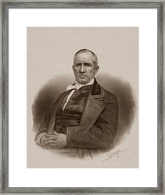 Sam Houston Portrait Framed Print by War Is Hell Store