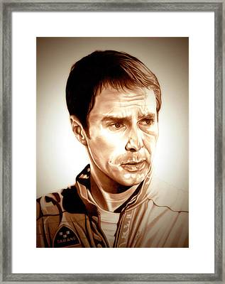 Sam Rockwell Moon Framed Print by Fred Larucci