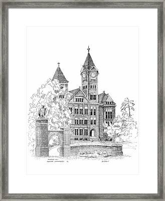 Samford Hall Framed Print by Barney Hedrick