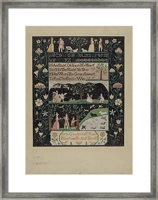 Sampler Framed Print by Elizabeth Valentine