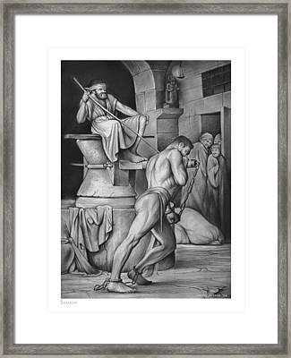 Samson Framed Print by Greg Joens