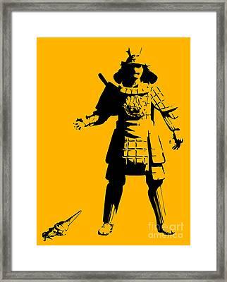 Samurai Fail Framed Print by Pixel Chimp