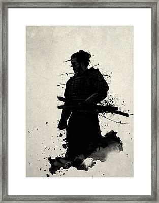 Samurai Framed Print by Nicklas Gustafsson