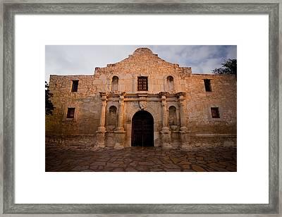 San Antonio Alamo At Sunrise Framed Print by Samuel Kessler