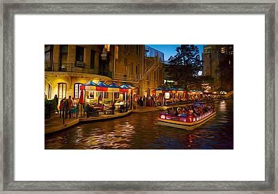 San Antonio River Walk Framed Print by Larry Lamb