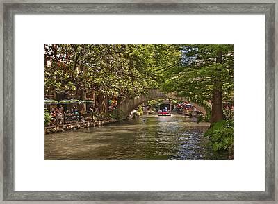 San Antonio Riverwalk Framed Print by Steven Sparks