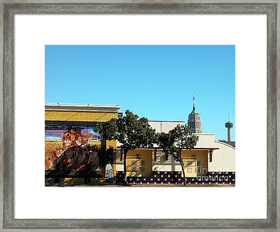 San Antonio Skyline Framed Print by Thomas R Fletcher
