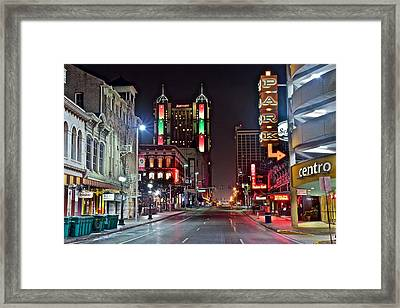 San Antonio Texas Framed Print by Frozen in Time Fine Art Photography