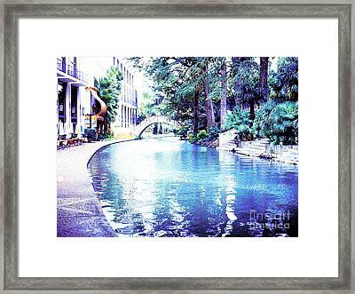 San Antonio Texas  River Walk Framed Print by Merton Allen