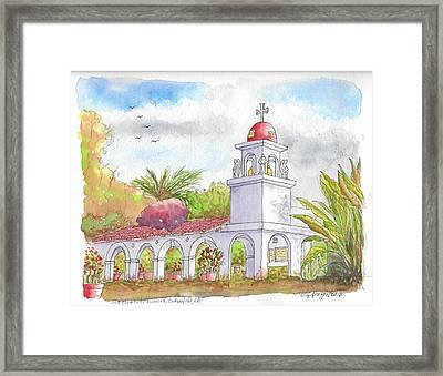 San Clemente Mission Parish, Bakersfield, California Framed Print by Carlos G Groppa