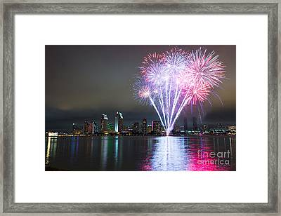 San Diego 4th Of July Fireworks Framed Print by Razyph