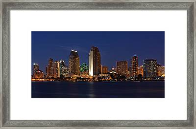 San Diego America's Finest City Framed Print by Larry Marshall