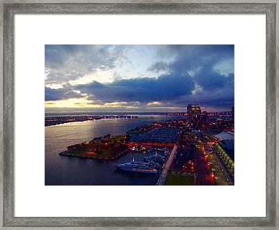 San Diego By Night Framed Print by Glenn McCarthy Art and Photography
