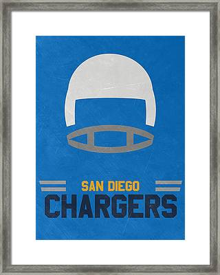 San Diego Chargers Vintage Art Framed Print by Joe Hamilton