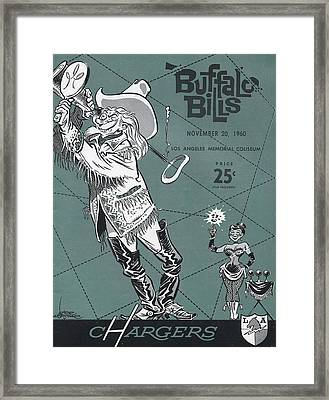 San Diego Chargers Vintage Program 3 Framed Print by Joe Hamilton