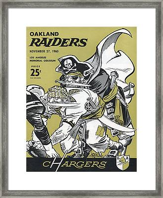 San Diego Chargers Vintage Program 4 Framed Print by Joe Hamilton