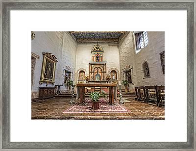 San Diego De Alcala Altar Framed Print by Stephen Stookey