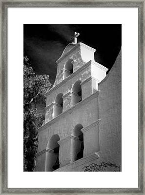 San Diego De Alcala Campanario Framed Print by Stephen Stookey