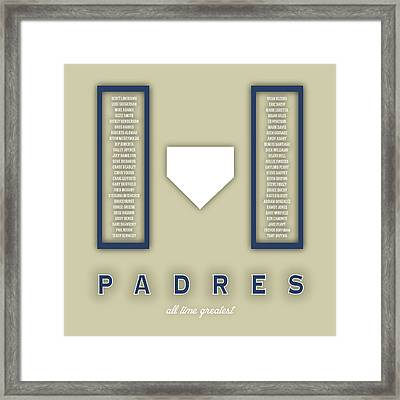San Diego Padres Greatest Framed Print by Damon Gray