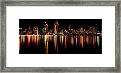 San Diego Panoramic Framed Print by Bill Gallagher