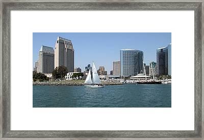 San Diego Skyline 9 Framed Print by Joseph R Luciano