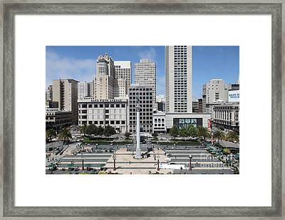 San Francisco . Union Square . 5d17938 Framed Print by Wingsdomain Art and Photography