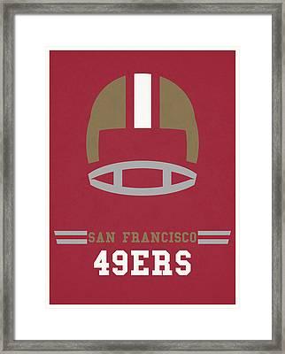San Francisco 49ers Vintage Art Framed Print by Joe Hamilton