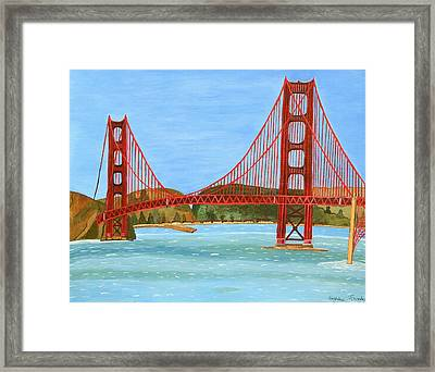 San Francisco Bridge  Framed Print by Magdalena Frohnsdorff