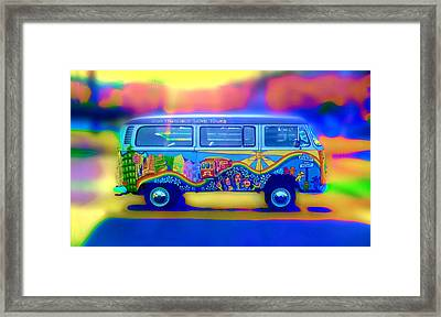 San Francisco Bus Framed Print by Natalia Shcherbakova