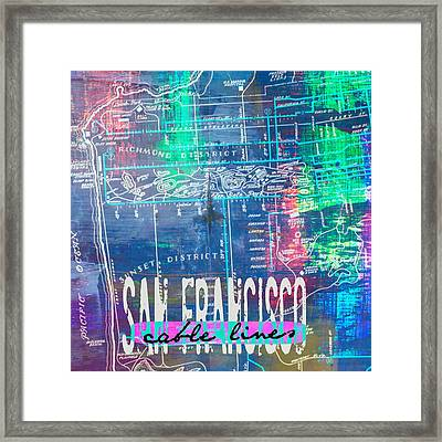 San Francisco Cable Lines V1 Framed Print by Brandi Fitzgerald