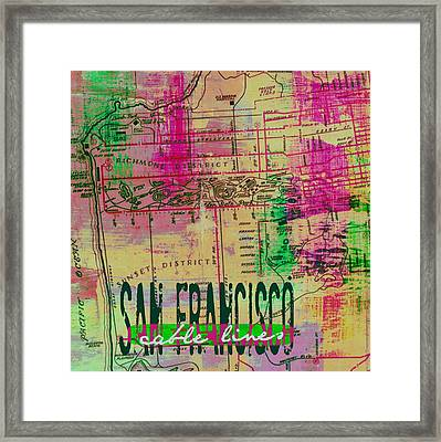 San Francisco Cable Lines V2 Framed Print by Brandi Fitzgerald