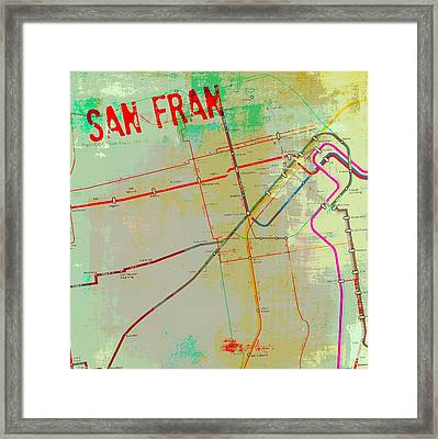San Francisco Cable Lines V3 Framed Print by Brandi Fitzgerald