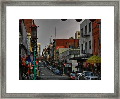 San Francisco - Chinatown 001 Framed Print by Lance Vaughn
