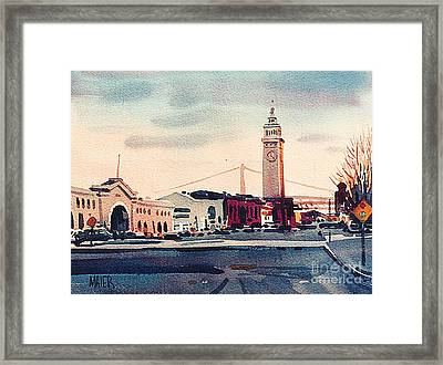 San Francisco Ferry Building Framed Print by Donald Maier