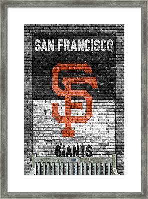San Francisco Giants Brick Wall Framed Print by Joe Hamilton