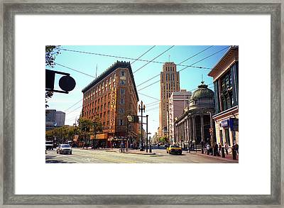 San Francisco Intersection, 2007 Framed Print by Frank Romeo