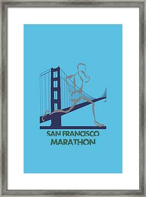 San Francisco Marathon2 Framed Print by Joe Hamilton