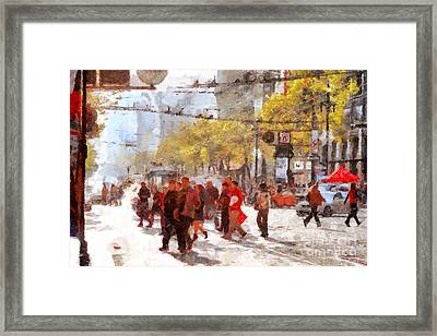 San Francisco Market Street . 40d3701 Framed Print by Wingsdomain Art and Photography