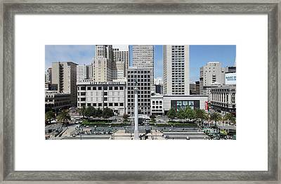 San Francisco Union Square 5d17938 Panoramic Framed Print by Wingsdomain Art and Photography