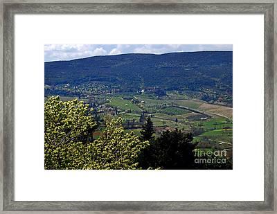 San Gimignano Valley Tuscany Italy - Toscana Italia Framed Print by Carlos Alkmin