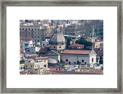 San Gioacchino In Prati Framed Print by Andy Smy